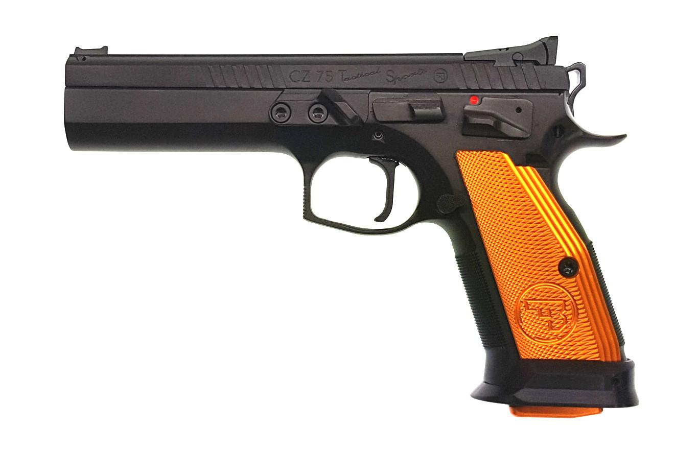 Pistole CZ 75 Tactical Sport orange 9 mm Luger Waffenstube Thalkirchen München Bayern Deutschland