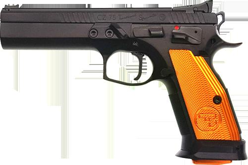 Kurzwaffe Pistole CZ 75 Tactical Sport orange 9 mm Luger Waffenstube Thalkirchen München Bayern Deutschland