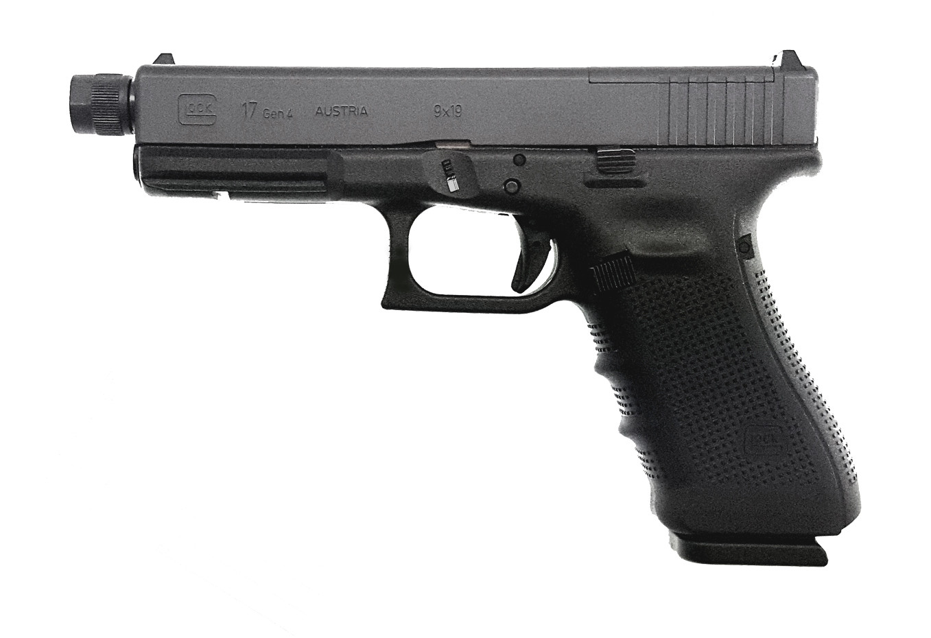 Pistole Glock 17 Gen 4 M.O.S. mit Gewindelauf M13,5x1 Linksgewinde Waffenstube Thalkirchen München Bayern Deutschland