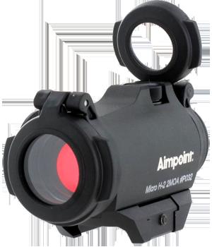 Reflexvisier Leuchtpunktvisier Aimpoint Micro H2 2MOA mit Weaverschiene Waffenstube Thalkirchen München Bayern Deutschland