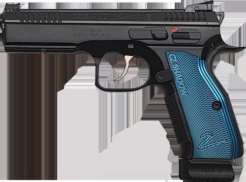 Kurzwaffe Pistole CZ75 SP-01 Shadow Boa Pro Tuning blau 9 mm Luger Waffenstube Thalkirchen München Bayern Deutschland